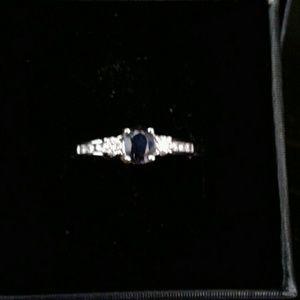 Jewelry - 14k Natural Sapphire n  Diamond Ring